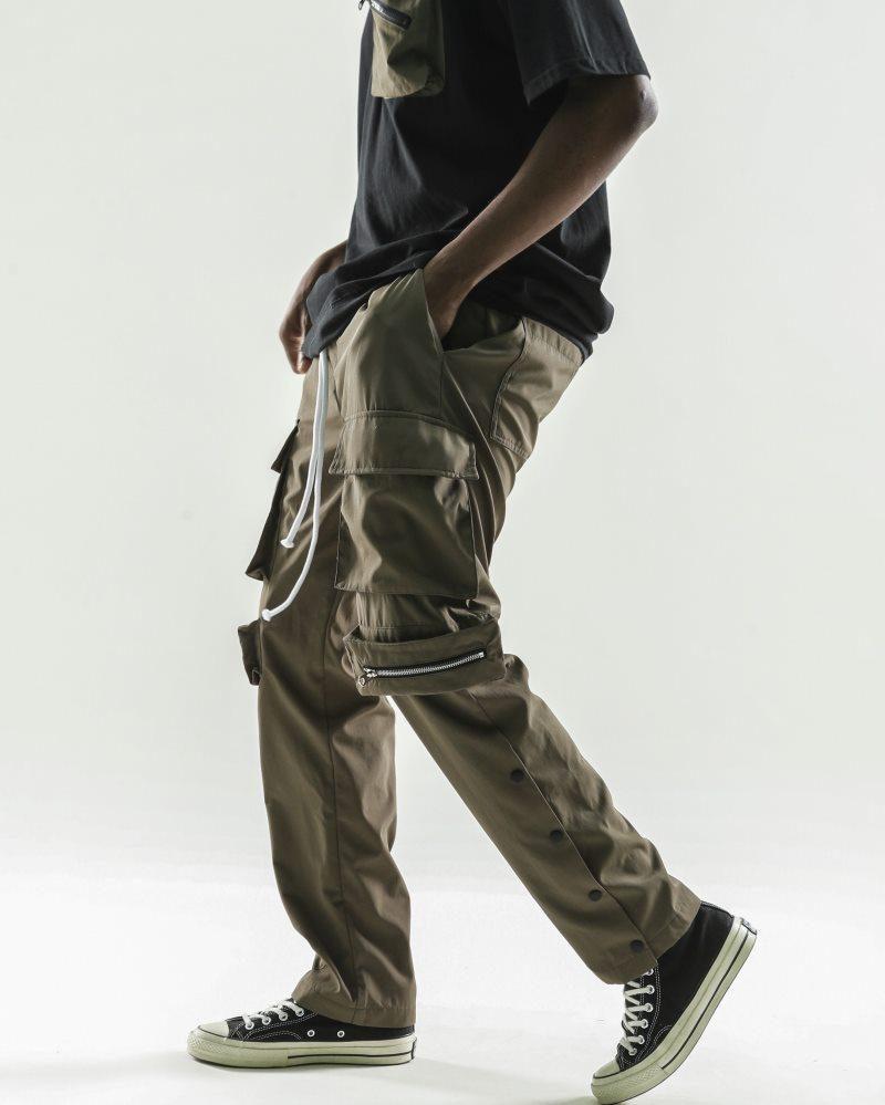 《2色》ビッグポケットサイドスナップカーゴジョガーパンツの画像7